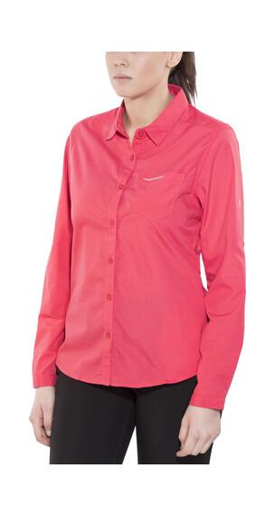 Craghoppers Kiwi overhemd en blouse lange mouwen Long Sleeved roze